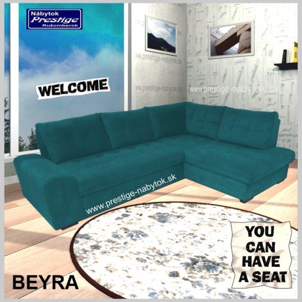 Beyra sedacia súprava rohová tyrkysová
