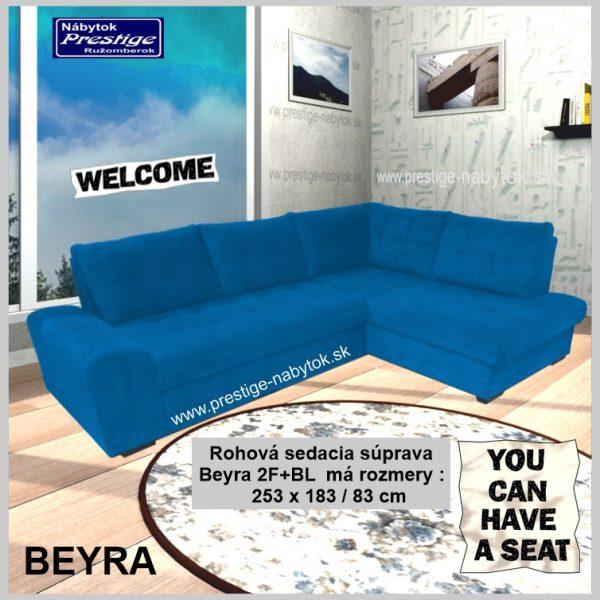 Beyra sedačka rohová modrá