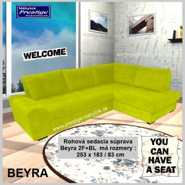 Beyra sedačka rohová zelená
