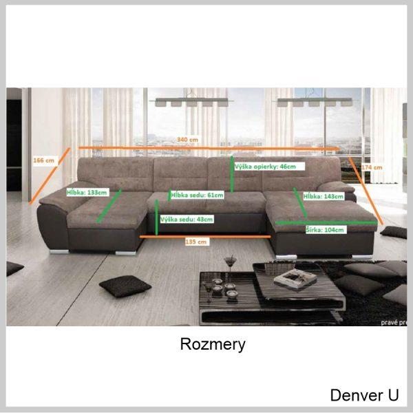 Denver U sedačka Rozmery
