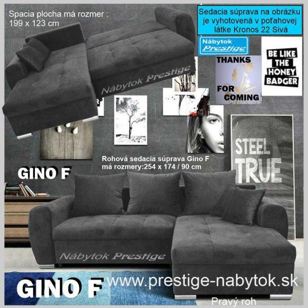 GINO F sedacia súprava rohová rozkladanie