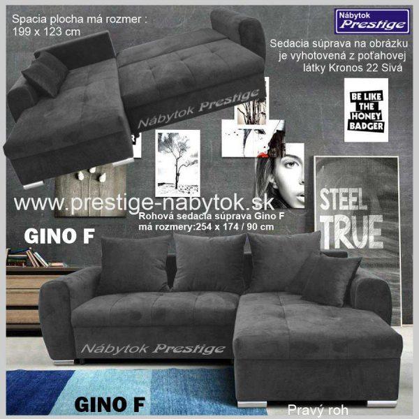 GINO F sedačka rohová spacia plocha