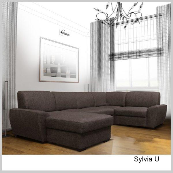 Sylvia Sedacia súprava tvar U Centauri hnedá