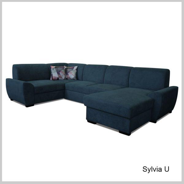 Sylvia Sedacia súprava tvar U Centauri modrá