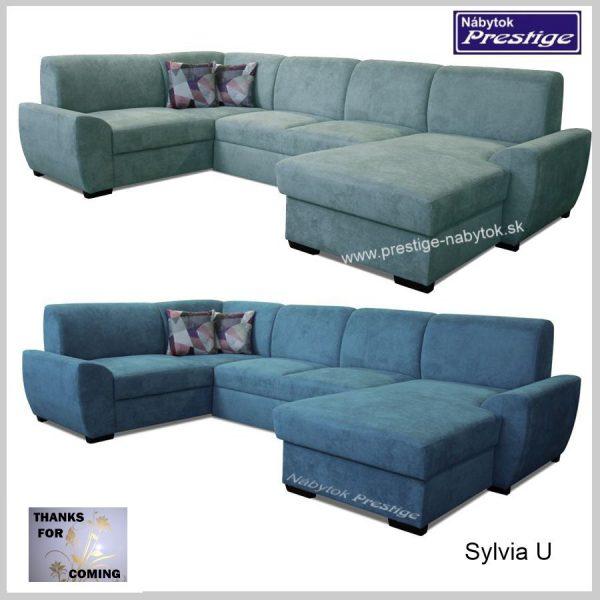 Sylvia U Sedačky tvar U modré