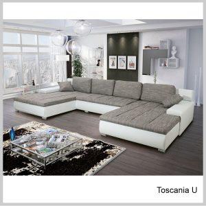 Toscania U Sedacia súprava tvar U Berlin sivá