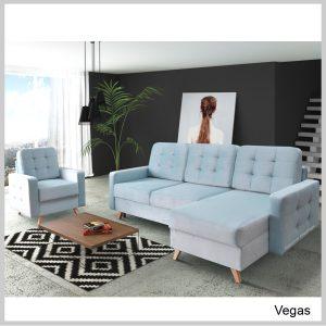 Vegas Sedacia súprava rohová Blue