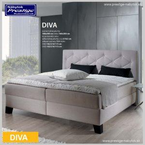 Diva posteľ sivá