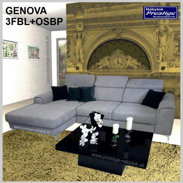 Genova sedacia súprava rohová 3FB