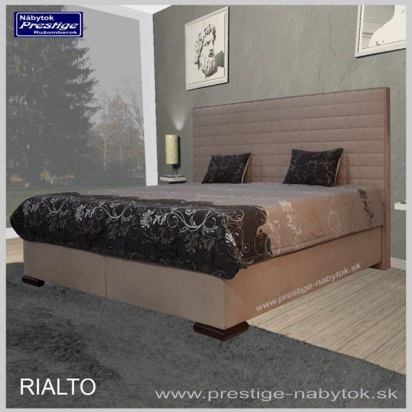 Rialto manželská posteľ hnedá