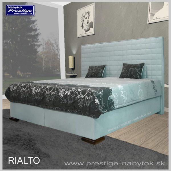 Rialto posteľ modrá