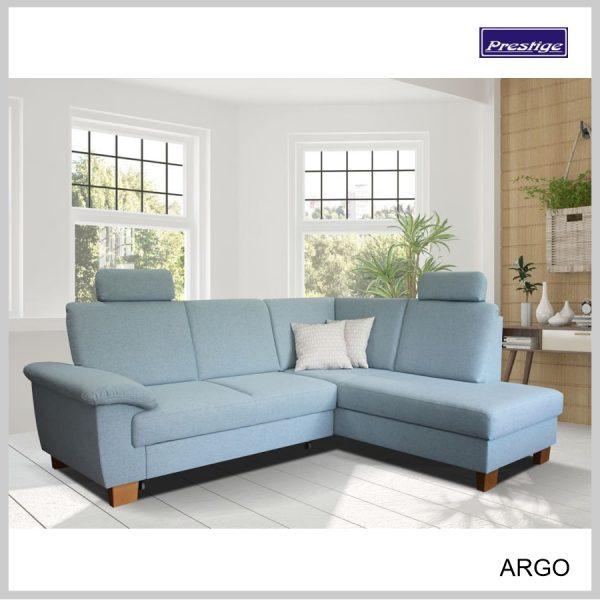 Sedačka Argo rohová rozkladacia modrá