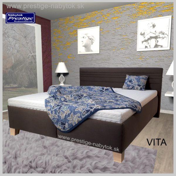 Vita posteľ manželská hnedá