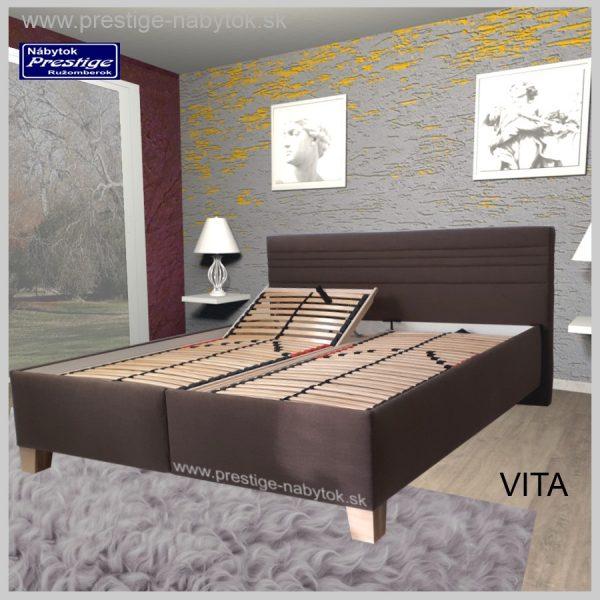Vita posteľ manželská hnedá rošty