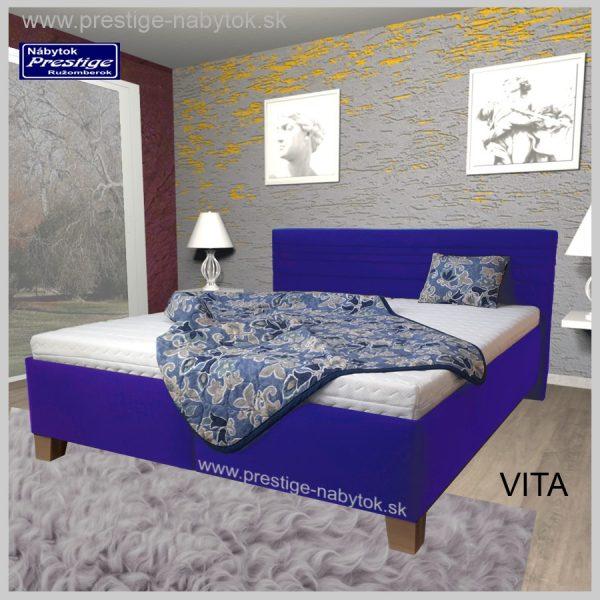 Vita posteľ manželská modrá