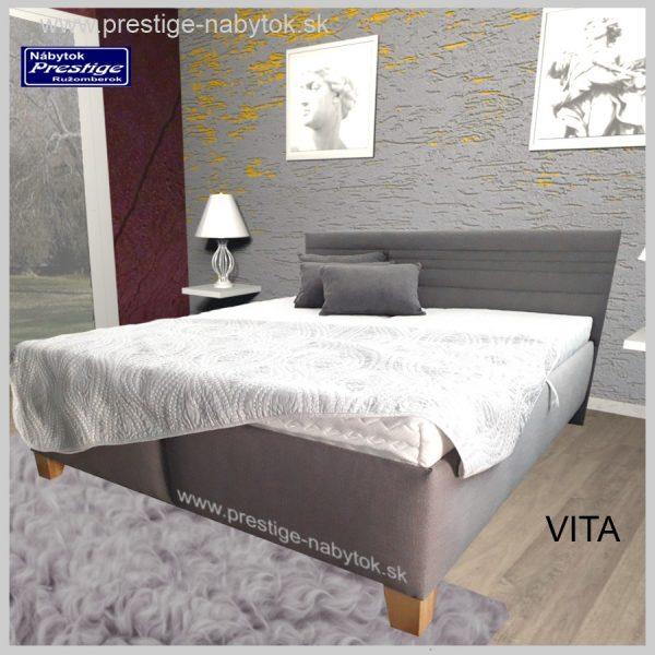 Vita posteľ manželská sivá