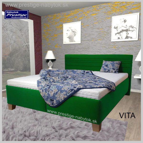 Vita posteľ manželská slabo zelená