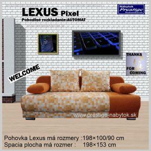 LEXUS PIXEL pohovka rozkladacia sedacia pomarančová