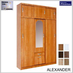 ALEXANDER predsieňová skriňa so zrkadlom jelša