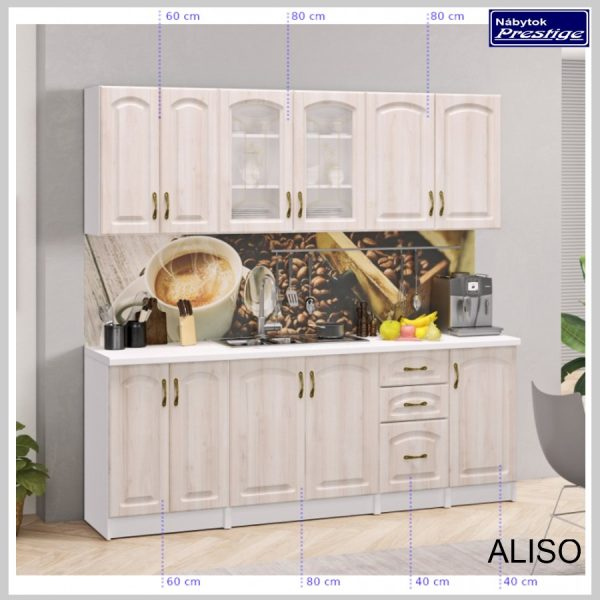 ALISO kuchyňa 220 cm Rozmery