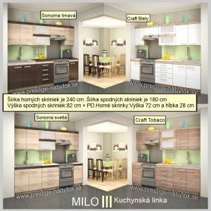Kuchyňa Milo 3 rozmery