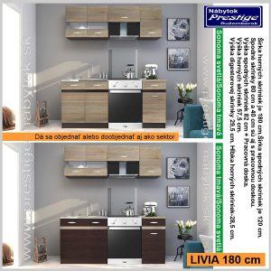 Livia kuchyňa 180 Sonoma svetlá/Sonoma tmavá