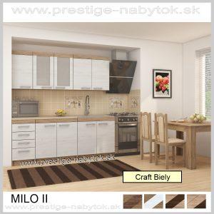 Milo II Kuchyňa Craft Biely