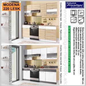 Modena 220 kuchyňa Biela Grafit
