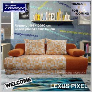 Lexus Pixel pohovka rozkladacia pomarančová