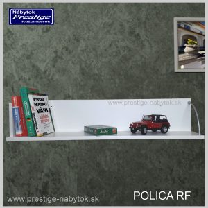 Polica RF na stenu biela