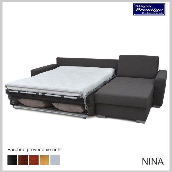 Nina sedačka rohová sivá spacia plocha