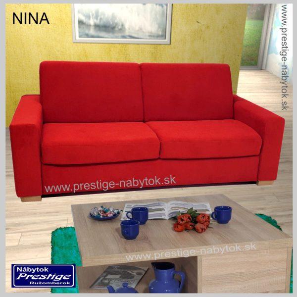 Nina sedačka rozkladacia červená