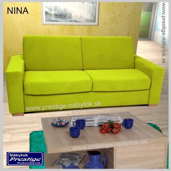 Nina sedačka rozkladacia zelená