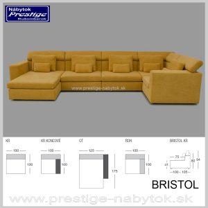 Bristol Sedacia súprava