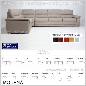 Modena sedačka rozmery