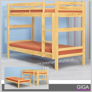 Poschodová posteľ Giga